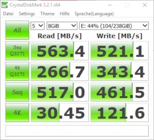 DREVO SSD Zeus CrystalDiskMark