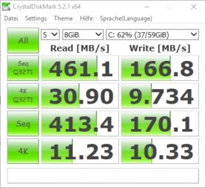 SanDisk SDSSDP-064G-G25 CrystalDiskMark