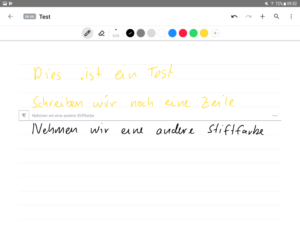 MyScript Nebo Preview auf Samsung Galaxy Tab S3