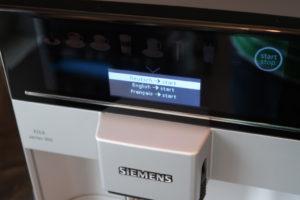 Siemens EQ6 300 Sprachauswahl