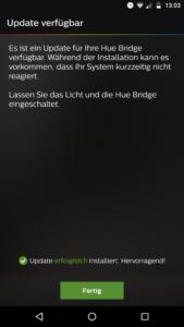 Philips Hue App Bridge aktualisieren