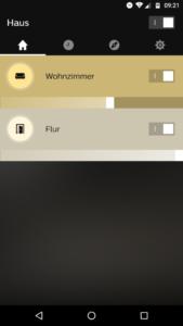 Philips Hue App Startseite