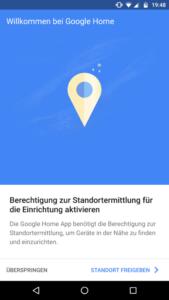 Google Home App Standort