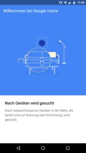 Google Home App Suche