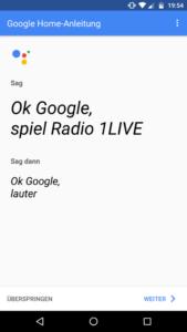 Google Home App Radio